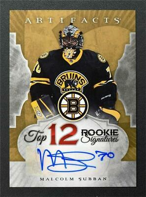 2015-16 Artifacts Top 12 Rookie Signatures #RSMS Malcolm Subban Auto - NM-MT