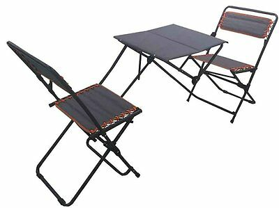 3 Piece Outdoor Patio Bistro Set Folding Table Chairs Portable Furniture Set
