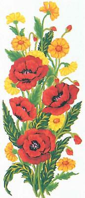 Grafitec Printed Tapestry/Needlepoint Canvas – Poppies