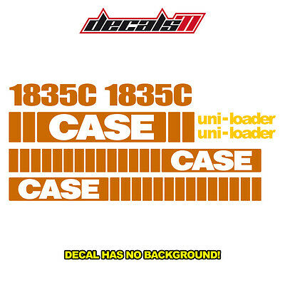 Case 1835C New Skid Steer Set Vinyl Decal Sticker Aftermarket