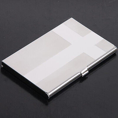 Silver Business ID Credit Card Wallet Holder Stainless Steel Metal Pocket Case