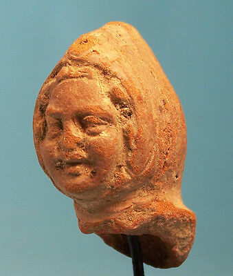 Greek Terracotta Head of a Comic Actor - Ancient Art & Antiquities