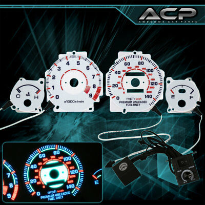 White Indiglo Gauge Dashboard Cluster Upgrade For 90-93 Acura Integra JDM