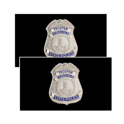 Virginia State Police Troopers Badge Decals Pack Of Two