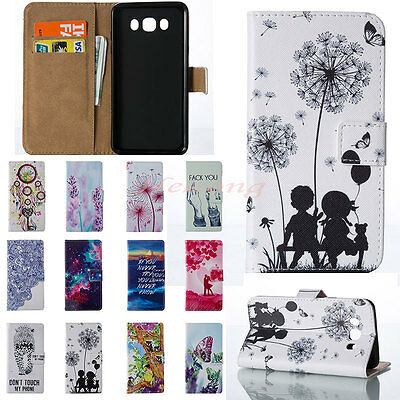 New Card Wallet Flip PU Leather Phone Case Cover For Samsung Galaxy Phones