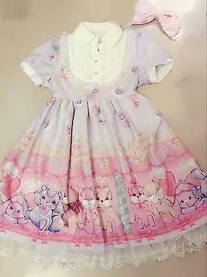 Women's Sweet Cartoon Bear Printed Brand New Cute Causal Wear Dress 1pc