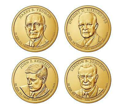 8 Coin Set P&D 2015 President Truman Eisenhower JFK Johnson Presidential Dollar
