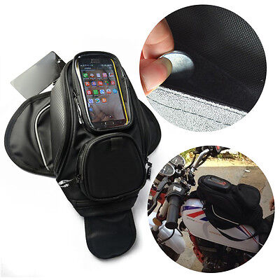 Motorbike Magnetic Tank Bag Luggage GPS Phone Pouch Strap Bag for Harley SUZUKI