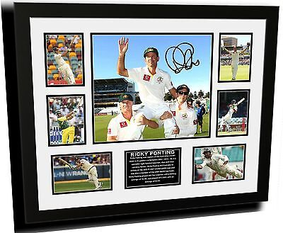 Ricky Ponting Signed Limited Edition Framed Memorabilia