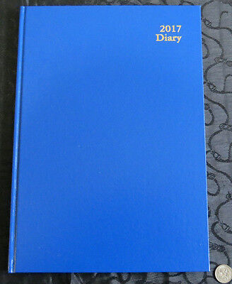 Diary 2017 A4 Week View Kingsgrove Clone Royal Blue Casebound Hardcover by Dats