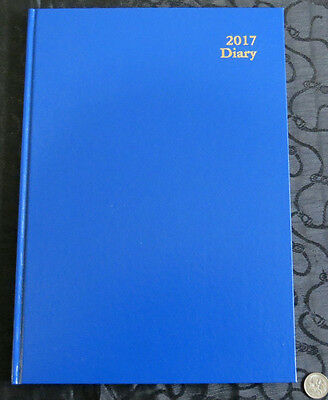 Diary OLD 2017 A4 Week View Kingsgrove Clone Royal Blue  Hardcover by Dats