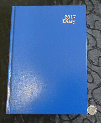 Diary OLD 2017 A5 Day Page Kingsgrove Clone Royal Blue Hardcover by Dats