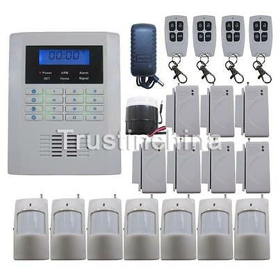 T01 Quad-Bands GSM PSTN DIY Wireless Home Security Alarm Burglar System SMS Dial