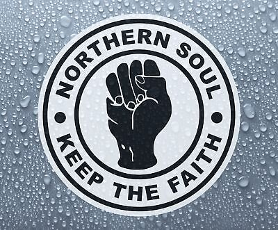 Northern Soul Keep The Faith #2 - printed self-adhesive car bike window sticker