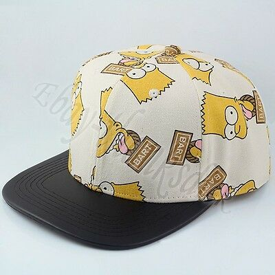 Brand New ! The Simpsons Bart Simpson COS Canvas Baseball Cap Hat Loose Pack