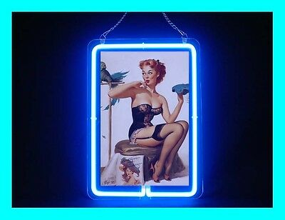 Pin Up Girl Sexy Black Underclothes Neon Sign