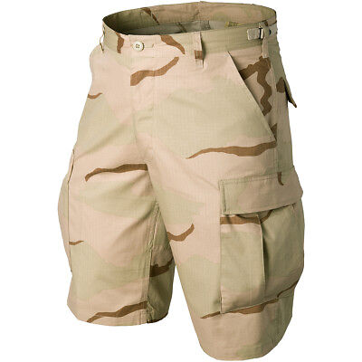 Helikon Genuine BDU Mens US Combat Army Cargo Shorts 3-Colour Desert Camo S-3XL