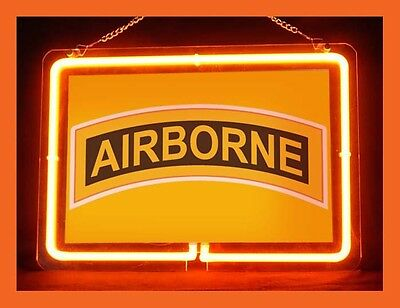 US Army Military Airborne Display Neon Sign