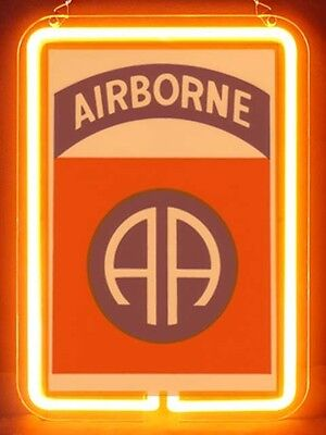 US Army Military Army Airborne Display Neon Sign