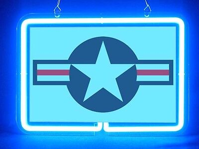 US Army Military AIR FORCE STAR Display Neon Sign