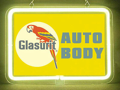 Glasurit Auto Body Garage Service Parts Display Decor Neon Sign