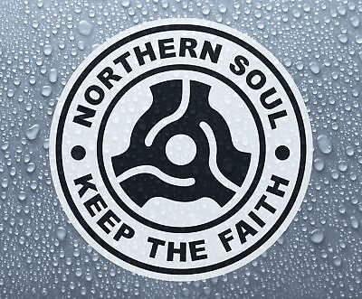"Northern Soul - 7"" single record middle self-adhesive sticker - Larger sizes"