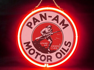 Pan Am Oil Garage Service Parts Display Decor Neon Sign