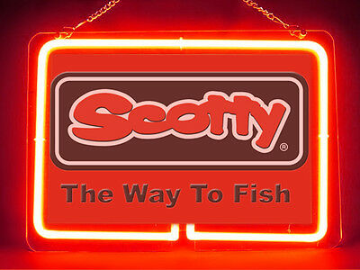 Scotty Fly Fishing Service Parts Display Decor Neon Sign