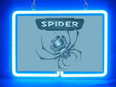 Spiderwire Fly Fishing Service Parts Display Decor Neon Sign