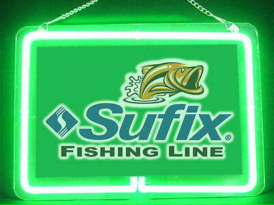 Sufix Fly Fishing Service Parts Display Decor Neon Sign