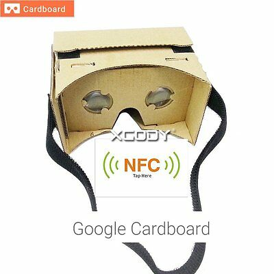 DIY Google Cardboard VR Viewer 3D Glasses For iPhone 5s 6s Plus Samsung S6 edge+