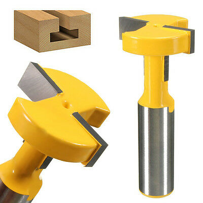 "1/2"" Shank T-Slot & T-Track Slotting Router Bit for Woodworking Chisel Cutter"