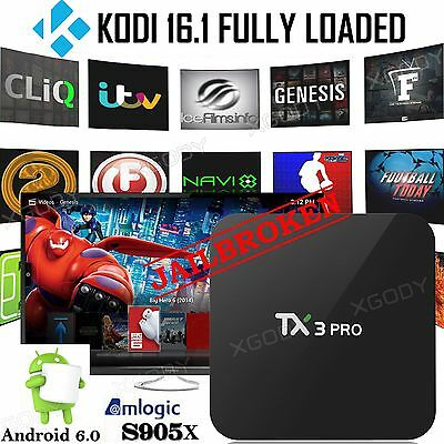 NEW KODI 16.1 Smart Android 4Core Fully Loaded Media Player Free Movie 4K TV BOX