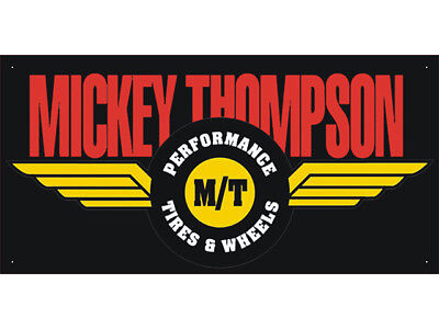 Mickey Thompson Car Auto Parts Club Shop Display Advertising Banner