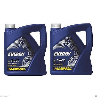 Mannol Energy 5W-30 Semi Synthetic Engine Oil 2 X5Litre Cans