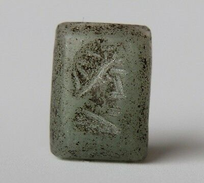 Ancient Roman Period Intaglio Gem Depicting Bust of Emperor 100 AD