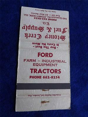 Ford Tractors Matchbook Stoney Creek Fuel Supply Farm Industrial Equipment Ont