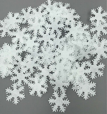 200pcs Padded Flat Christmas Snowflake Craft Applique patch Decoration 30mm