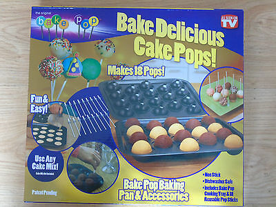Cake Bake Pop Baking Pan And Accessories Cakepop As Seen On TV Non stick