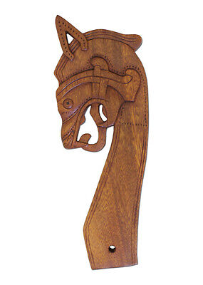Dragon Head, looking to the left - hand carved  - LARP - Viking - Medieval Tent