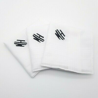 Monogram Handkerchiefs Embroidered Personalised Any Initials Hankies Men Lady