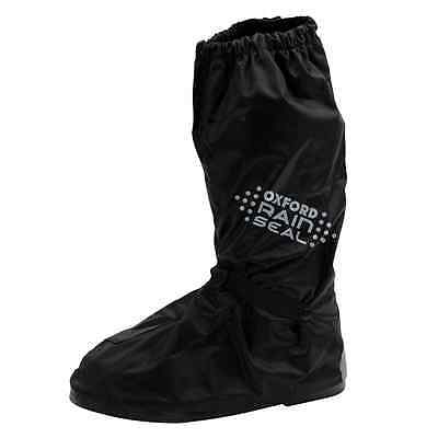 Oxford Motorcycle Bike Rainseal Waterproof Elasticated Overboots Black Size S-XL