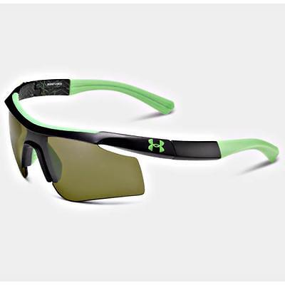 UNDER ARMOUR DYNAMO SATIN BLACK w/GAME DAY LENSES YOUTH SPORT SUNGLASSES
