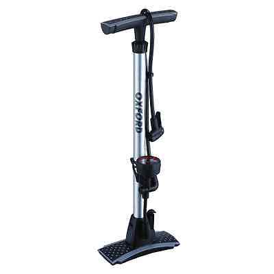 New Oxford Motorcycle Bike Alloy Dual Head Floor Hand Track Tyre Pump W/ Gauge