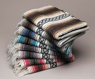 #11 Pack of20 Mexico Rug Falsa Yoga Beach Blanket Throw Mix Colors Wholesale Lot