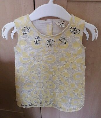 Fabulous little yellow mini baby river island dress, 0-3 month old
