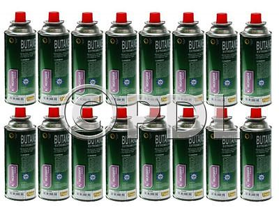 16 x BUTANE GAS CANISTER BOTTLES GAS CARTRIDGE CANS HEATER STOVE CAMPING