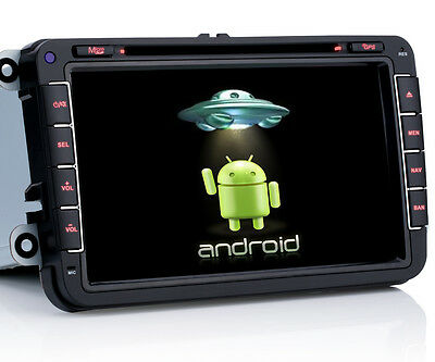 "8"" Autoradio Navigation Android 4.4.4 DVD MP3  Bluetooth Für VW Jetta Golf 5 6"