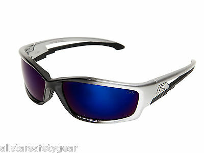 Edge Eyewear Kazbek Blue Mirror Lens Safety Glasses SK118 Tactical Shooting