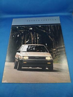 1986 Toyota Corolla Car Sales Brochure Features Specifications